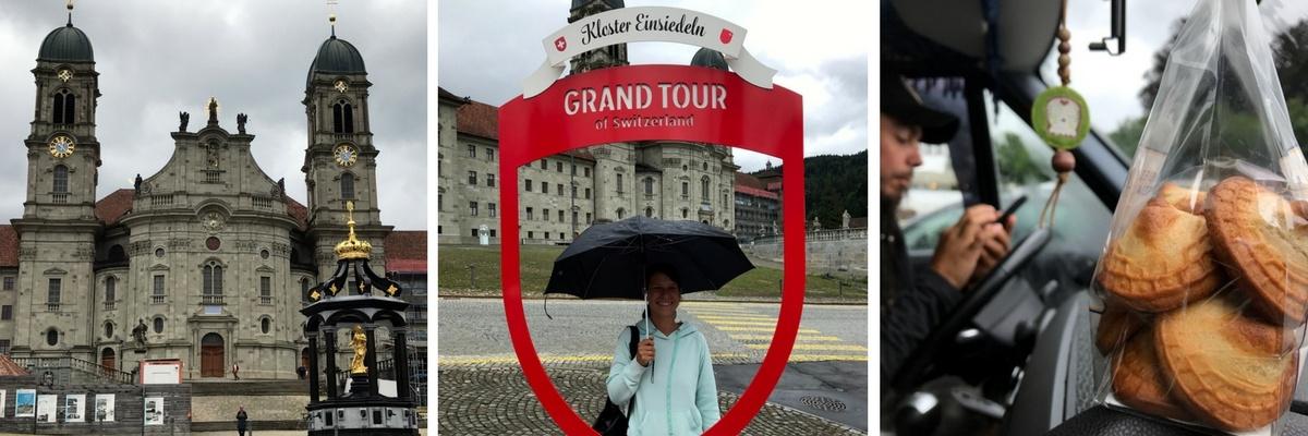 Grand Tour of Switzerland SwissGrandTour Roadtrip Schweiz Campervan Einsiedeln Schafsboecke Kloster