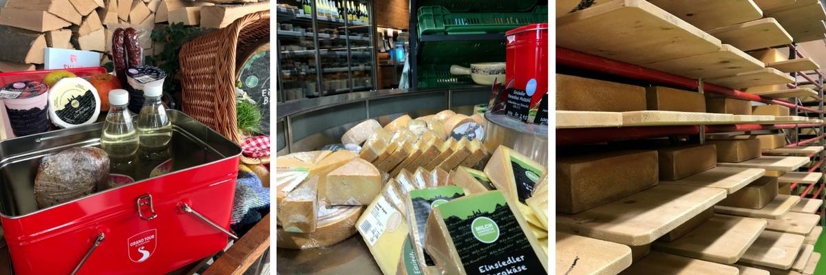 Grand Tour of Switzerland SwissGrandTour Roadtrip Schweiz Campervan Einsiedeln Milchmanufaktur Snackbox