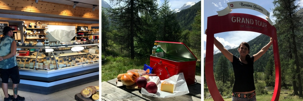 Grand Tour of Switzerland SwissGrandTour Roadtrip Schweiz Campervan Pontresina Bernina Glaciers Snackbox