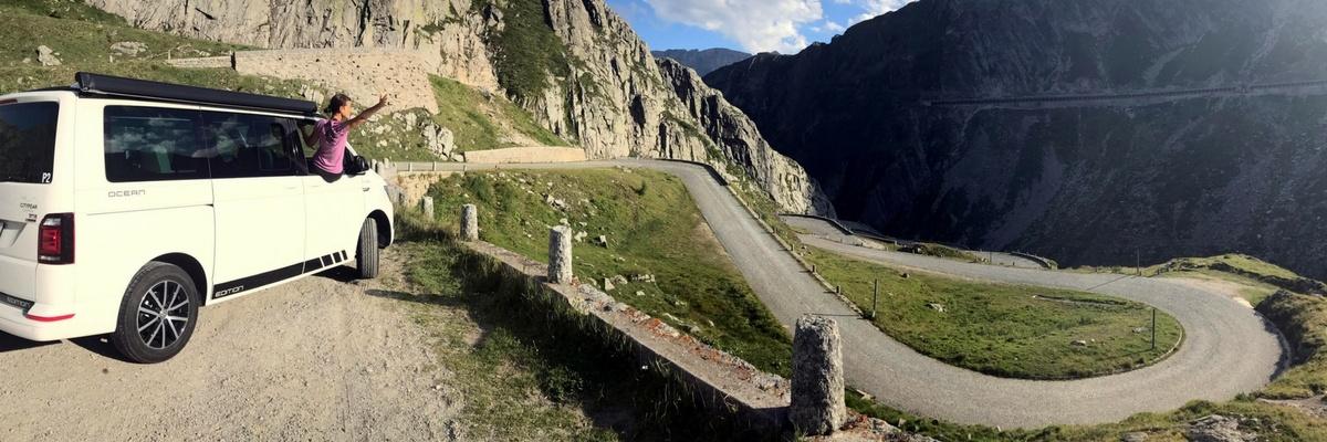 Grand Tour of Switzerland SwissGrandTour Roadtrip Schweiz Campervan Tremola CityPeak Campers