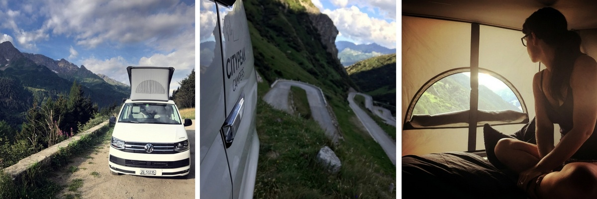 Grand Tour of Switzerland SwissGrandTour Roadtrip Schweiz Campervan Tremola Gotthard Stellplatz