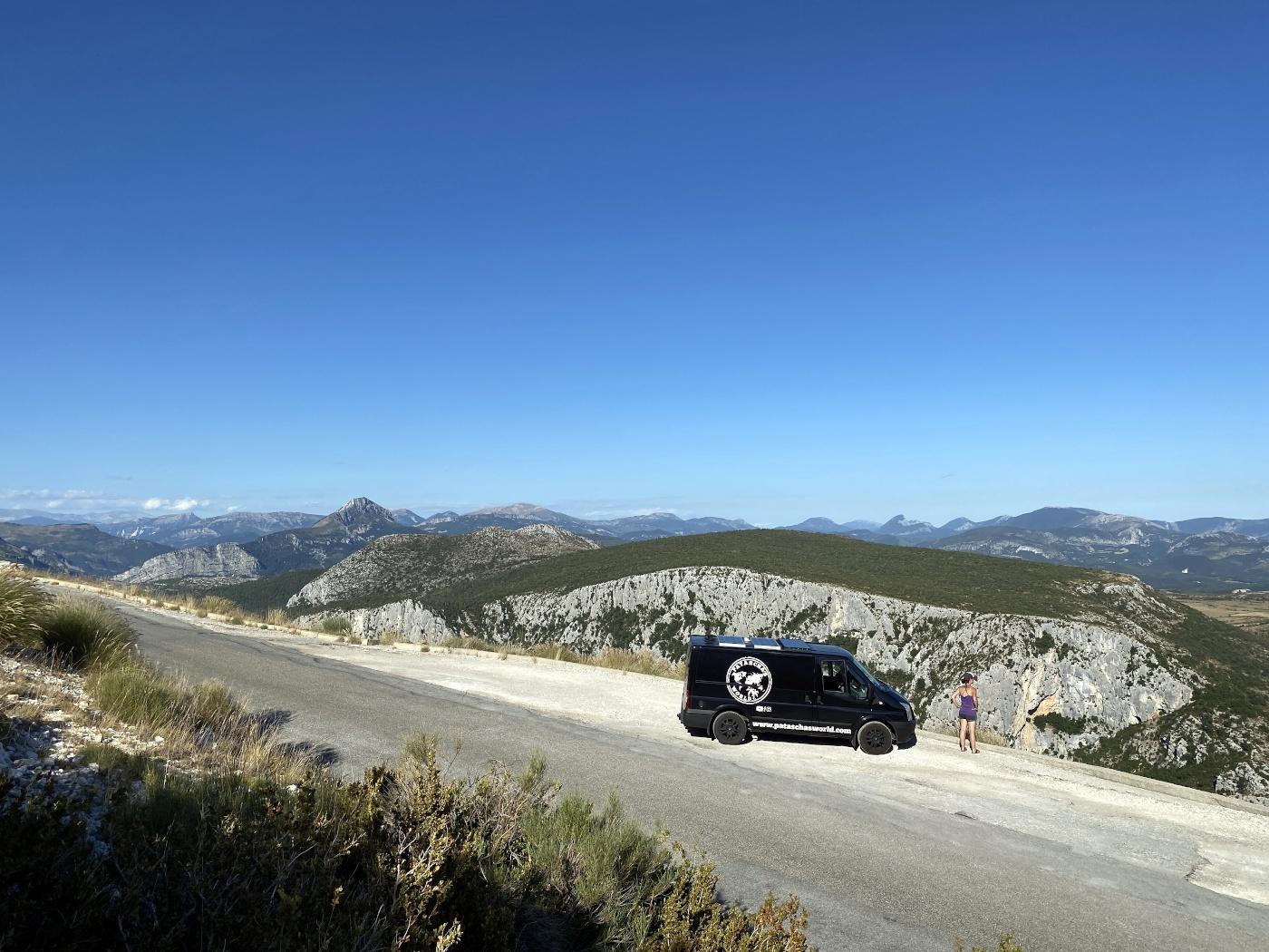 Patascha Frankreich Route des Grandes Alpes Roadtrip Gorges du Verdon Schlucht Canyon Wohnmobil Panorama Strasse